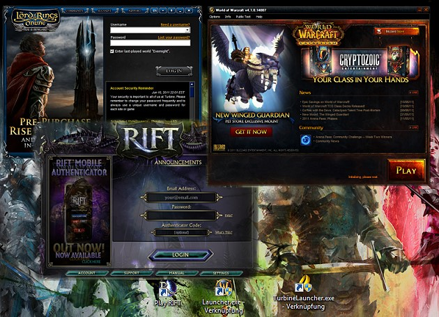 Rift vs  LotRO vs  World of Warcraft – a closer look at all three