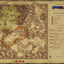 The brownish area marks the RvR region where you got marked for PvP The areas above and below are PvE regions on that map.