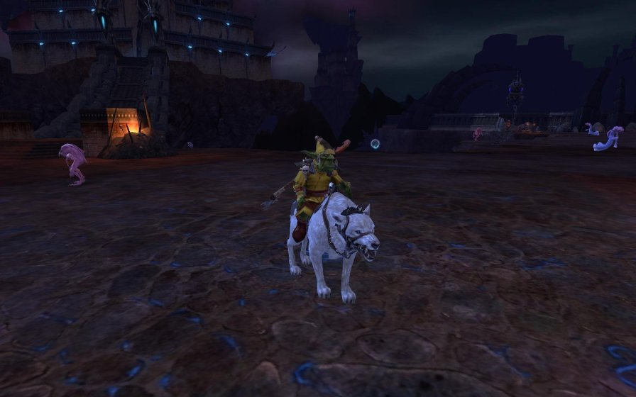 My shaman on his white wolf. He was very proud of that one.
