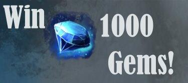 GW2 1000 Gems Giveaway