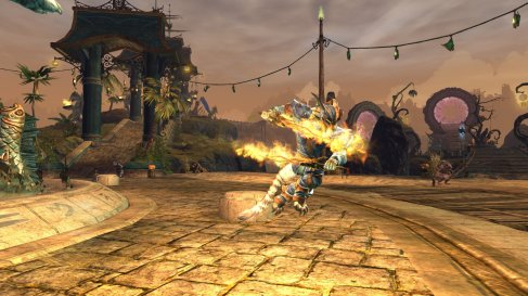 GW2 Charr with two swords