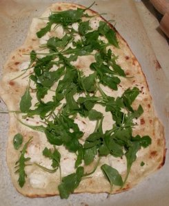 Flammkuchen_rocket goat cheese
