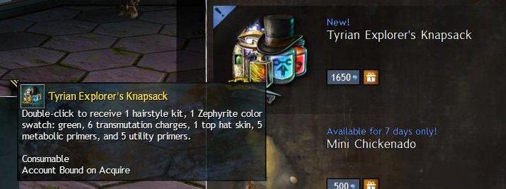 GW2 Tyrian Explorer's Knapsack