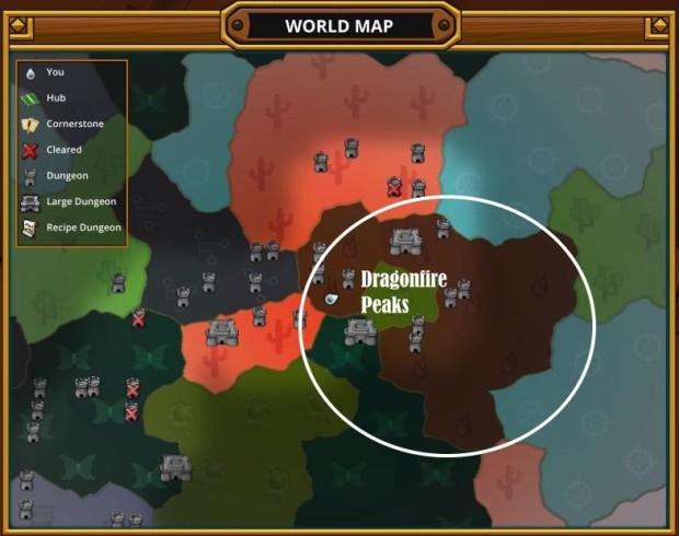 Trove Map Dragonfire Peaks Fire