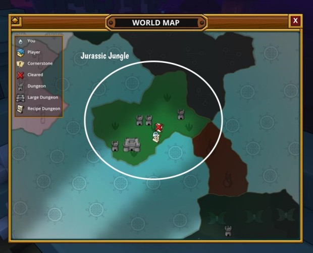 Trove Map Colours Jurassic Jungle biome