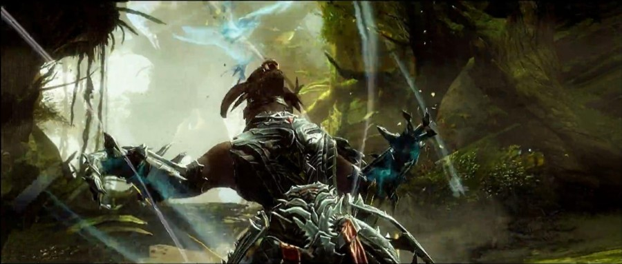 Charr Rytlock using a new ability he gained in Heart of Thorns