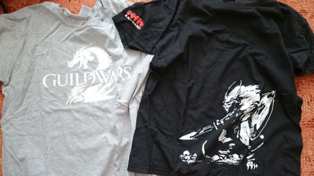 GW2 t shirts grey and black