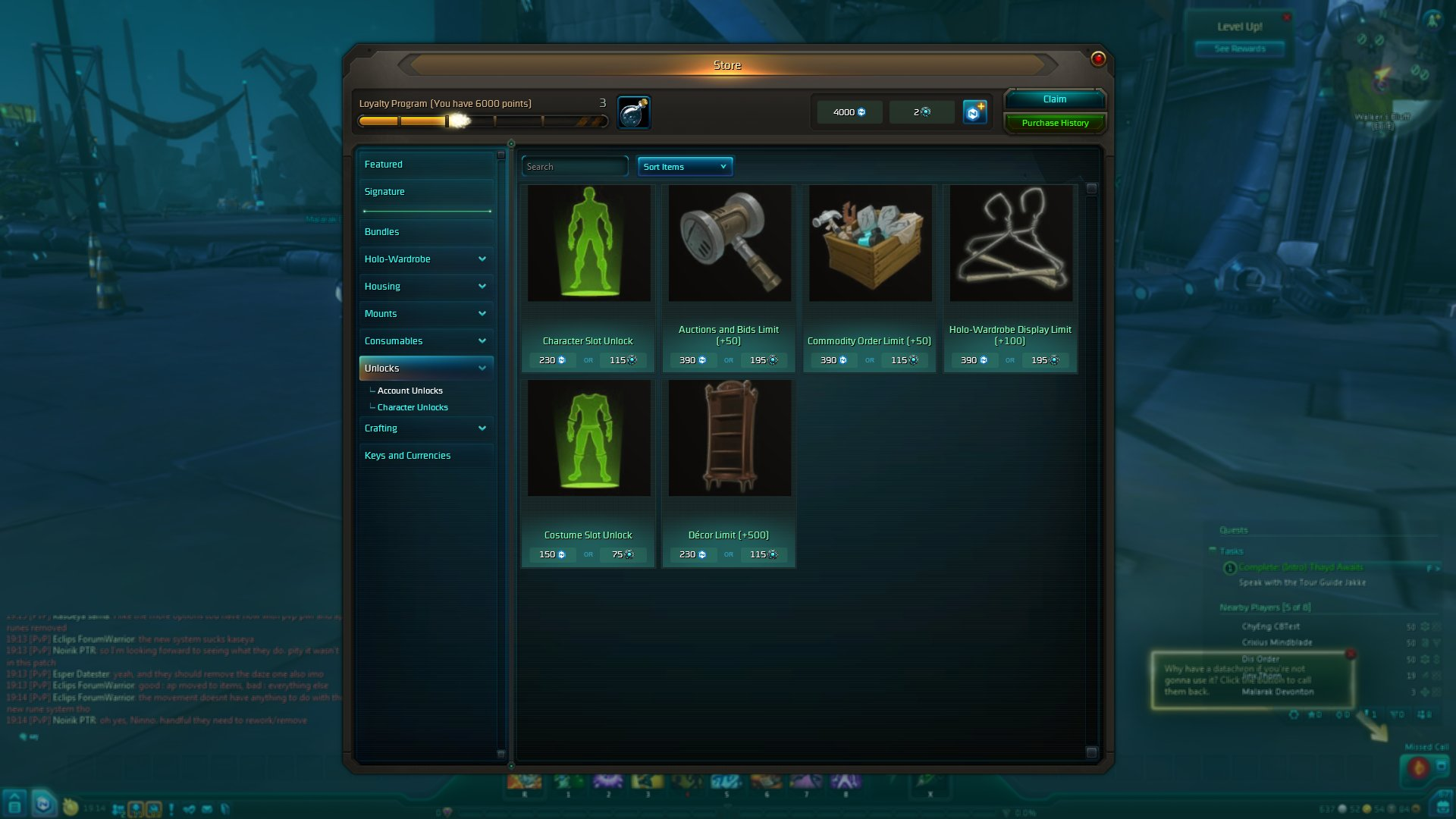 Wildstar character slots how to play poker 3 cards