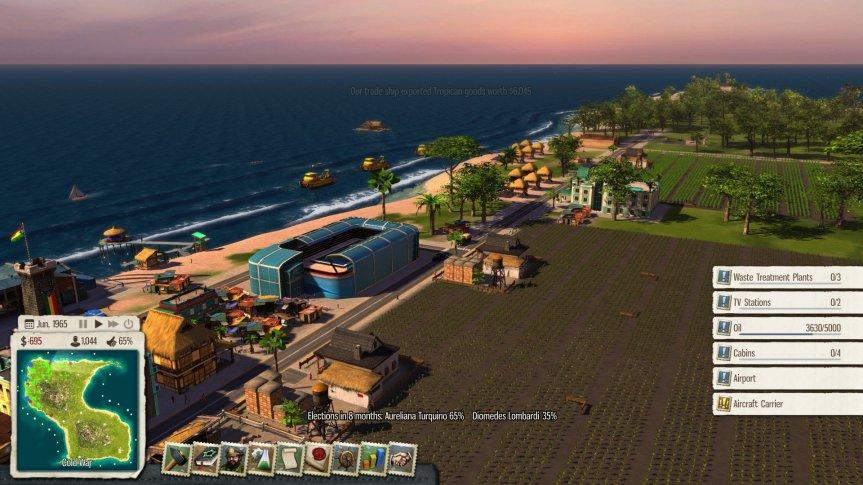 Tropico 5 tourist area