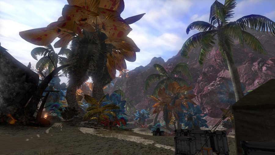 Screenshot of the scenery in the new tutorial of The Repopulation