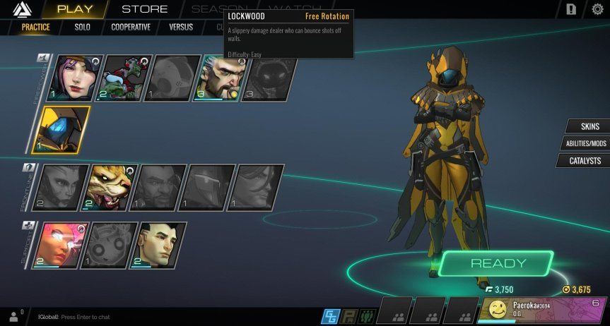 Atlas Reactor Freelancer Screen