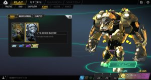 Atlas Reactor Rask Style Golden Warrior