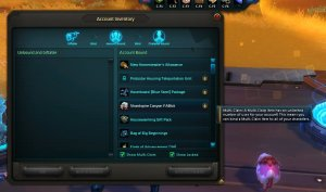 Wildstar Jumpstar Pack in Account Inventory