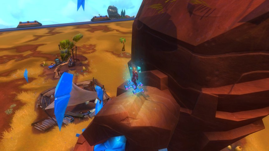 Wildstar Shardspire Canyon and Hoverboard (Blue Steel)