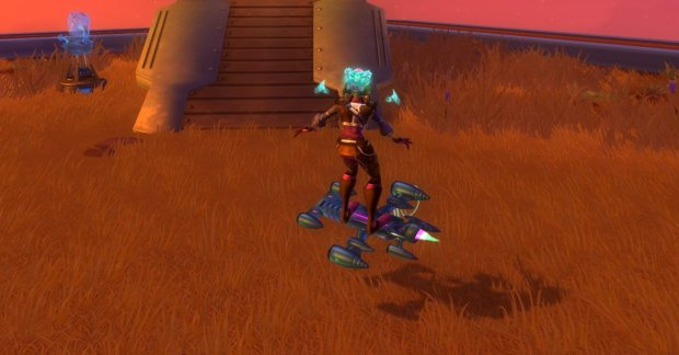 Wildstar Blue Steel Hoverboard with Flair