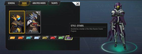 Atlas Reactor: Gray's Citadel Style