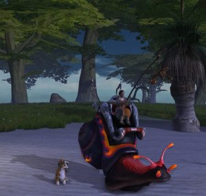 Rift Racing Snail mount and Radar Corgi companion