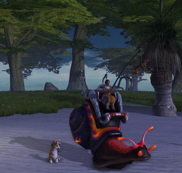 Rift Racing Snail mount and Radar Corgi companion