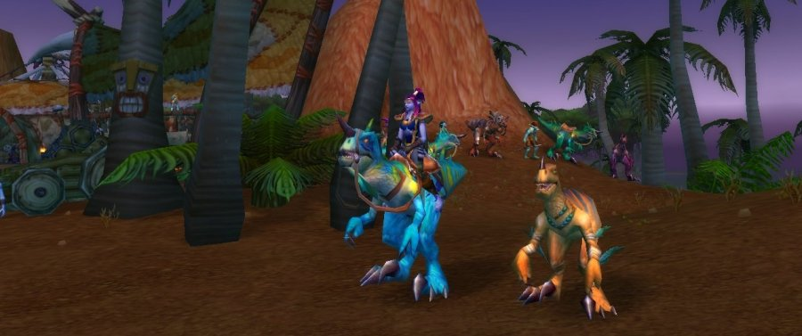 WoW_Hunter Raptor Pet and Mount
