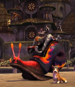 Rift Radar Corgi companion and Racing snail mount