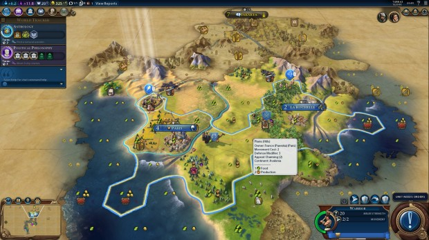 Civ VI multiplayer game as France