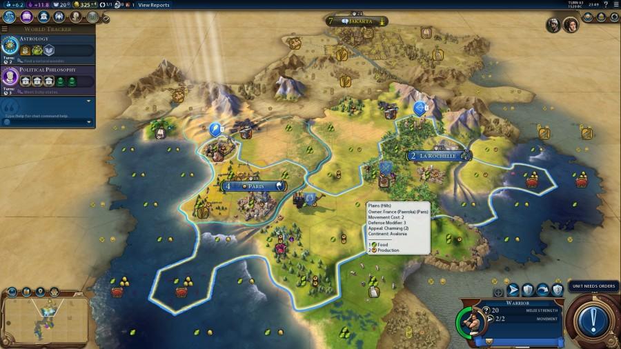 Civ VI multiplayer game as France