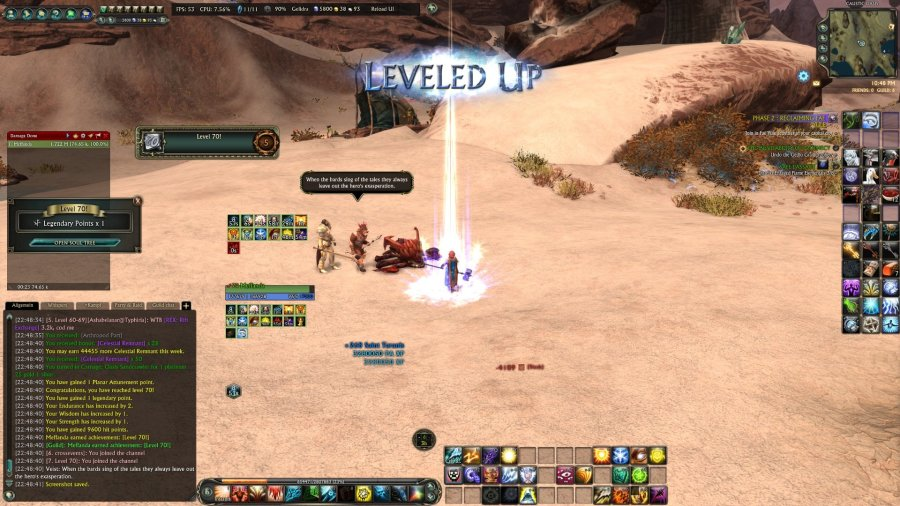 rift meffanda cleric hitting level 70