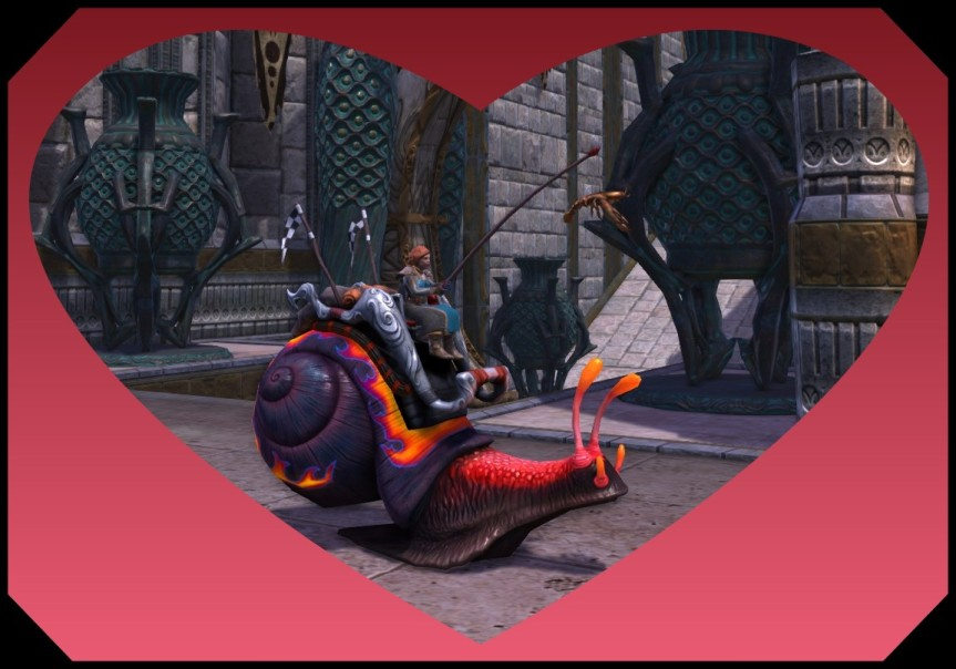 Rift Racing Snail Mount with heart