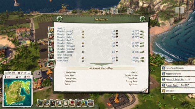 Tropico 5 buildings list