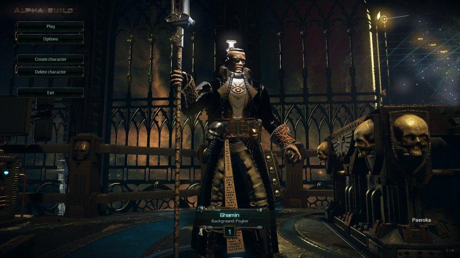 Warhammer 40k Martyr - Psyker Login Screen