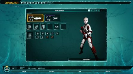 Defiance Character View