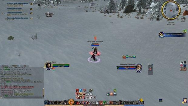 Lotro Hobbit guardian fighting