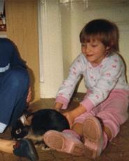 Cloudie - pet rabbit 1987