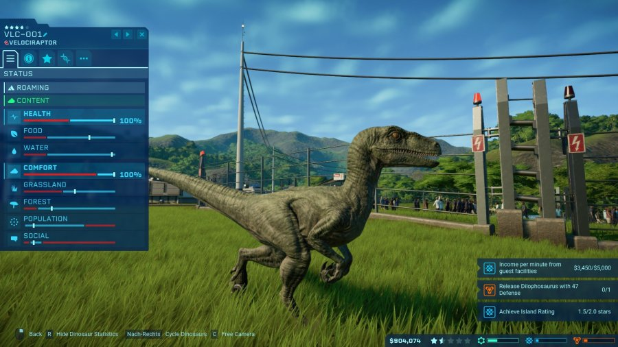 Jurassic World Evolution Velociraptor